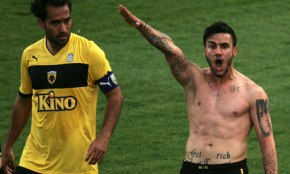 Greek footballer's nazi salute (link and video)