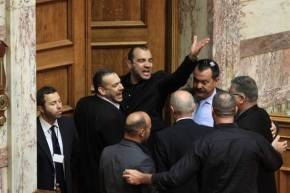 Golden Dawn MP stopped from taking gun into parliament