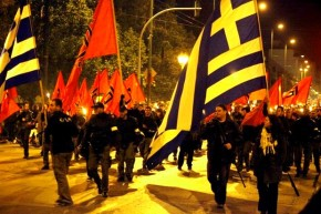 German neonazis attend Golden Dawn demonstration for Imia